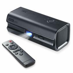 iRULU Mini DLP Projector HiBeam H60 Portable 1080P HD Dual S