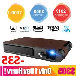 HD Portable Mini DLP 3D Projector WIFI Movie Conference HDMI