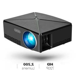 Mini HD 1080P LCD Projector Home Cinema Theater Multimedia T