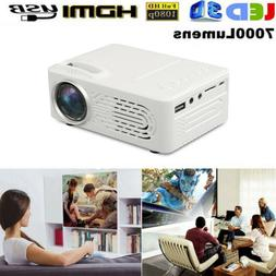 Mini HD 1080P LED Projector Home Theater Cinema HD HDMI VGA