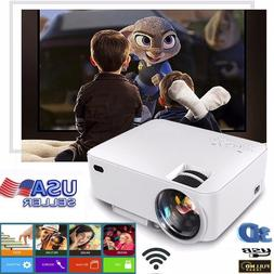 Mini HD 1080P LED Projector Home Theater Cinema 3D HDMI VGA