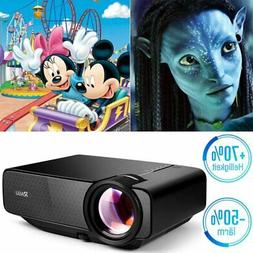 Mini HD 720P Home Projector Set Party Camping Church Video U