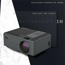 Mini HD Android 6.0 WiFi Projector Blue-tooth Youtube 1080P