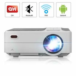 Mini HD Projector Home Theater Movie Night Blue-tooth Wirele