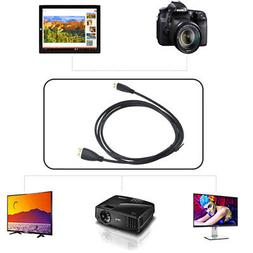 PwrON Mini HDMI HD TV Video Cable for Optoma Pico PKA21 PKA3