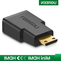 UGREEN Mini HDMI to HDMI Adapter Connector for Camera MP4 Ca