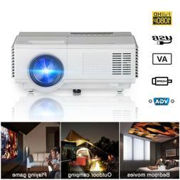 Mini LCD Projector Home Theater HD Video VGA USB HDMI for Sm