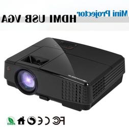 Mini LED Home Theater Projector 1080p HD Cartoon Film for Ki