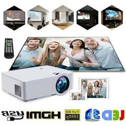 Mini LED LCD Home Theater Projector 1080P Full HD Video Game
