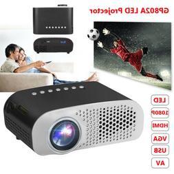 Mini LED Projector 1080P Video Home Theater Cinema Multimedi