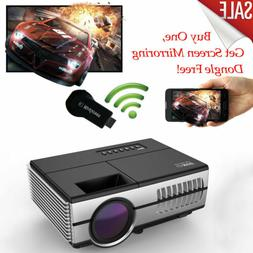 Mini LED Projector 2800lumen Home Theater HDMI USB With WiFi