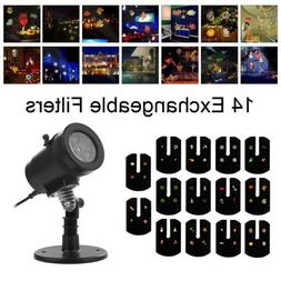 Mini LED Projector Christmas Auto Moving Laser Projection Ou