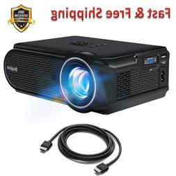 Mini LED Projector for Phone PC Laptop Flash Drive Streaming