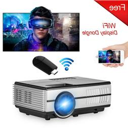 Mini LED Projector Multimedia Video Home Theater HDMI With W