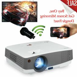 Mini LED Projector Portable Home Theater HDMI USB Bundle Wir