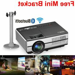EUG Mini LED Smart Projector HD Android WiFi Bluetooth Home