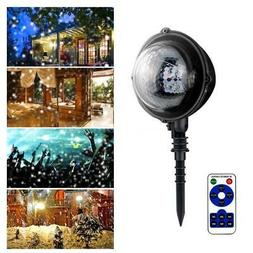 Mini Light Snowfall LED Projector Snowflake Stage Lights For