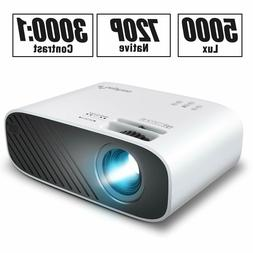 mini movie projector 5000 lux full hd
