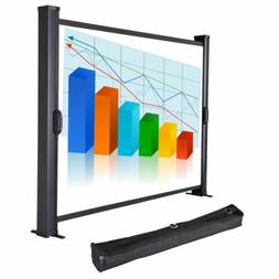 """Mini Office Folding Floor Stand Pull Up Projector Screen 30"""""""