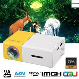 MINI PICO HD 1080P LED+LCD Projector Home Movie Cinema USB/H