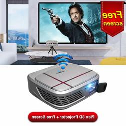 Mini Pico HD WiFi 3D DLP Projector Airplay Miracast for Phon