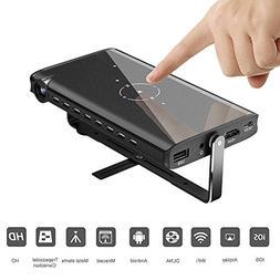 Y&H Portable Mini Video Projectors HD 1080P Pico Projector w