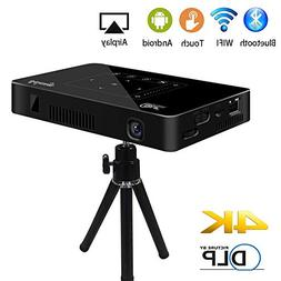 Mini Pico Projector, Salange DLP HD Video Projector Wireless