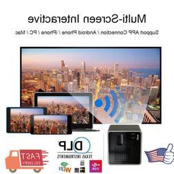 Mini Pocket Android IOS DLP Projector 3D HD 1080P Home Cinem