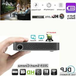Mini Pocket 4K DLP Android 7.0 Home Theater Wifi Full HD 108