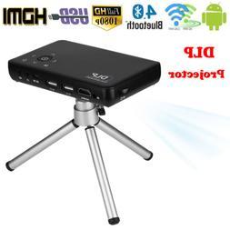 Portable Mini Projector WiFi Bluetooth 4.0 DLP LED 1080P Hom