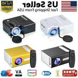 1080P Portable Mini Projector LED Micro USB HDMI AV Video Ho