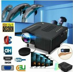 Mini Portable 1080P Projector LED Micro Mobile Phone Video H
