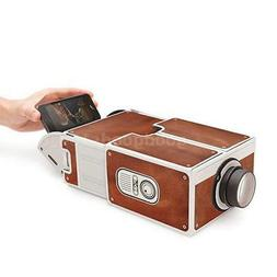 Mini Portable DIY Home Cardboard Projector For iPhone Samsun