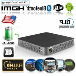 Mini Portable DLP 5500 Lumens 4K Android Wifi Home Theater P