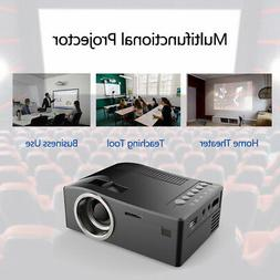 Mini Portable LCD Home Projector LED 1080p HD for Movie Game