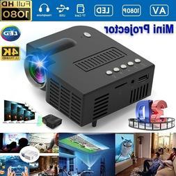 Mini Portable LCD Projector HD Micro Mobile Phone Video Home