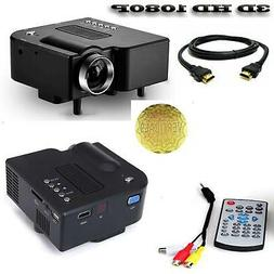 Mini Portable LED 3D Projector 1080P Multimedia Home Theater