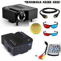 Mini Portable LED 3D Projector 1080P Multimedia Home Theater