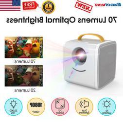 Mini Portable Multimedia LED Projector 1080P Home Theater US