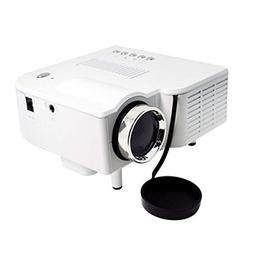 BEESCLOVER Mini Portable 1080P Projector Home Cinema Theater