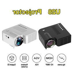Mini Portable Projector LED Micro Mobile Phone Video Home Th