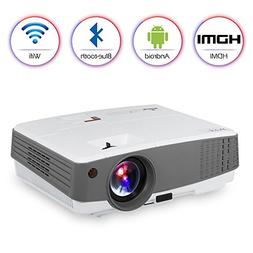 Portable LED Smart Wifi Projector 1080P HD Android Projector