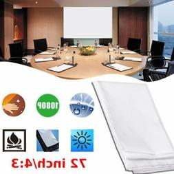 Mini Projection Curtain 72 inch 4:3 Projector Screen Film Ho