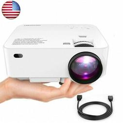 "DBPOWER Mini Projector, 176"" Display 1080P Full HD LED Movie"