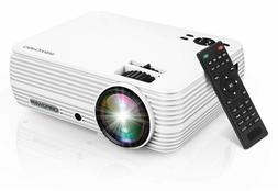 "DBPOWER Mini Projector, 176"" Display 1080P Full HD Movie Pro"