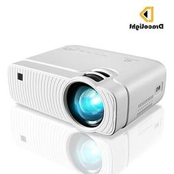 Mini Projector, DracoLight 3300 Lumens Portable Projector Ma