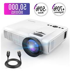 Mini Projector,2018 Upgraded LED Video Projector +50% Bright