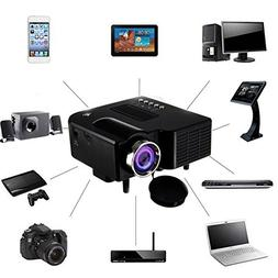 Mini Projector 2018 Upgraded, UNIC UC28+3D 1080p Portable LE