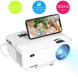 Mini Projector, TOPVISION 2400Lux Projector With Synchronize