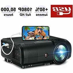 Mini Projector, 2500Lumen Portable Video 720P Native Movie 1